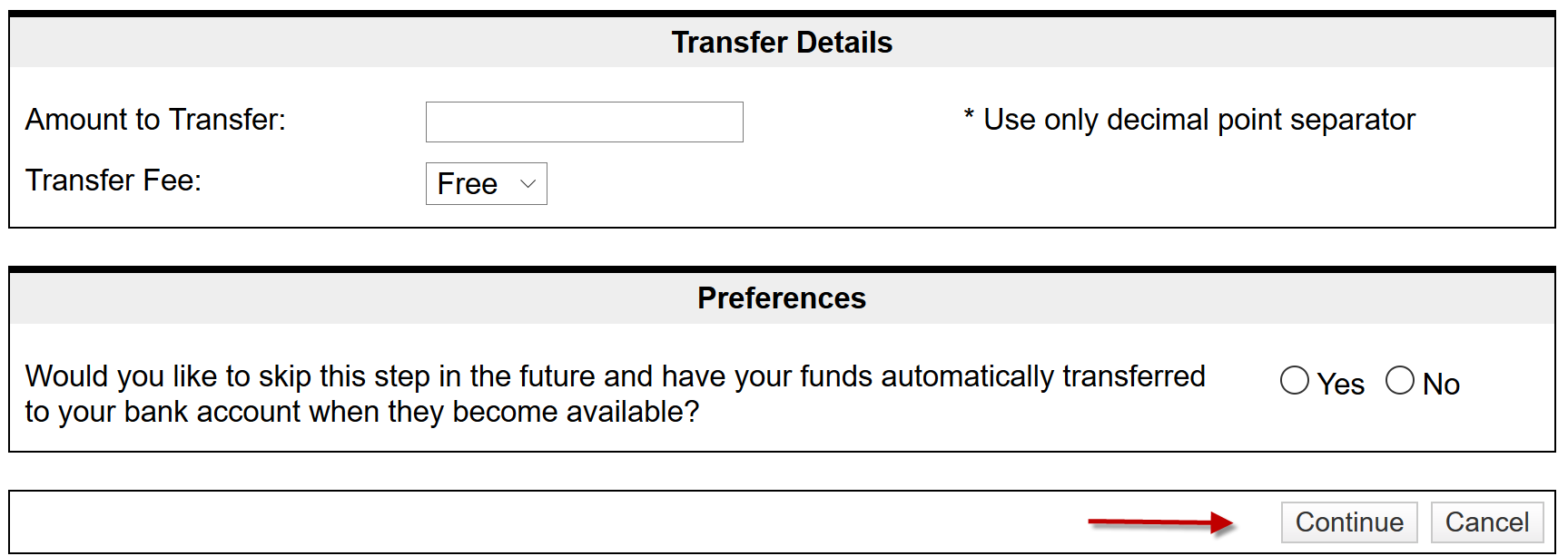 How to Transfer ArbiterPay Funds (Bank Account)